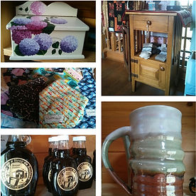 Consignment items at Huble Homestead.