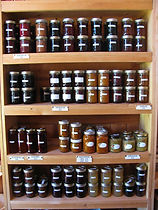 Jams & relishes sold at Huble Homestead.