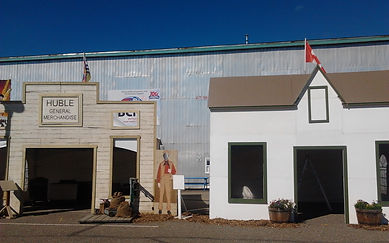 Reproductions of the General Store and Huble House.