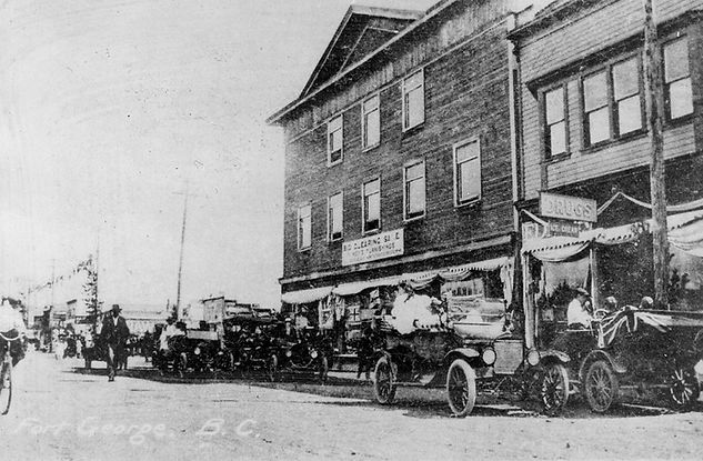Dominion Day celebrations on George Street in Prince George, July 1, 1917.