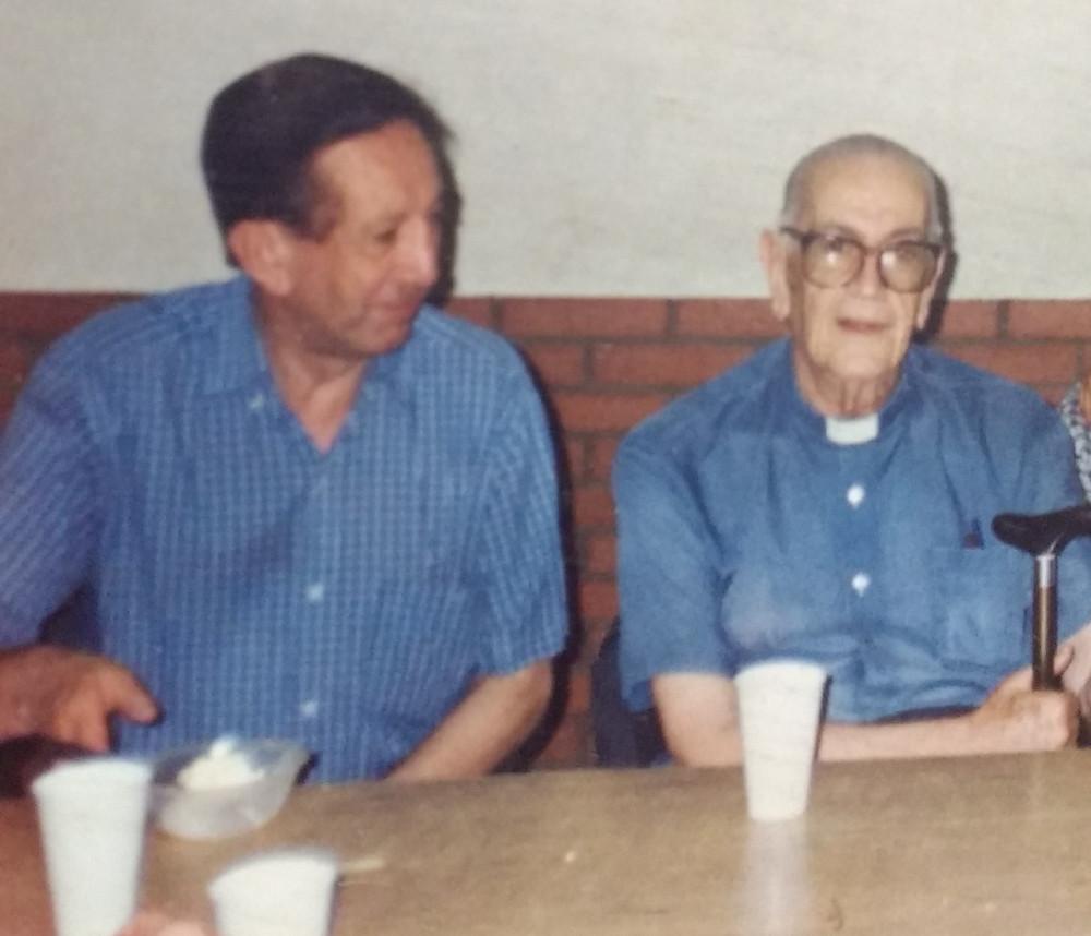 Ramoncito junto a Eladio Pedro Bordagaray