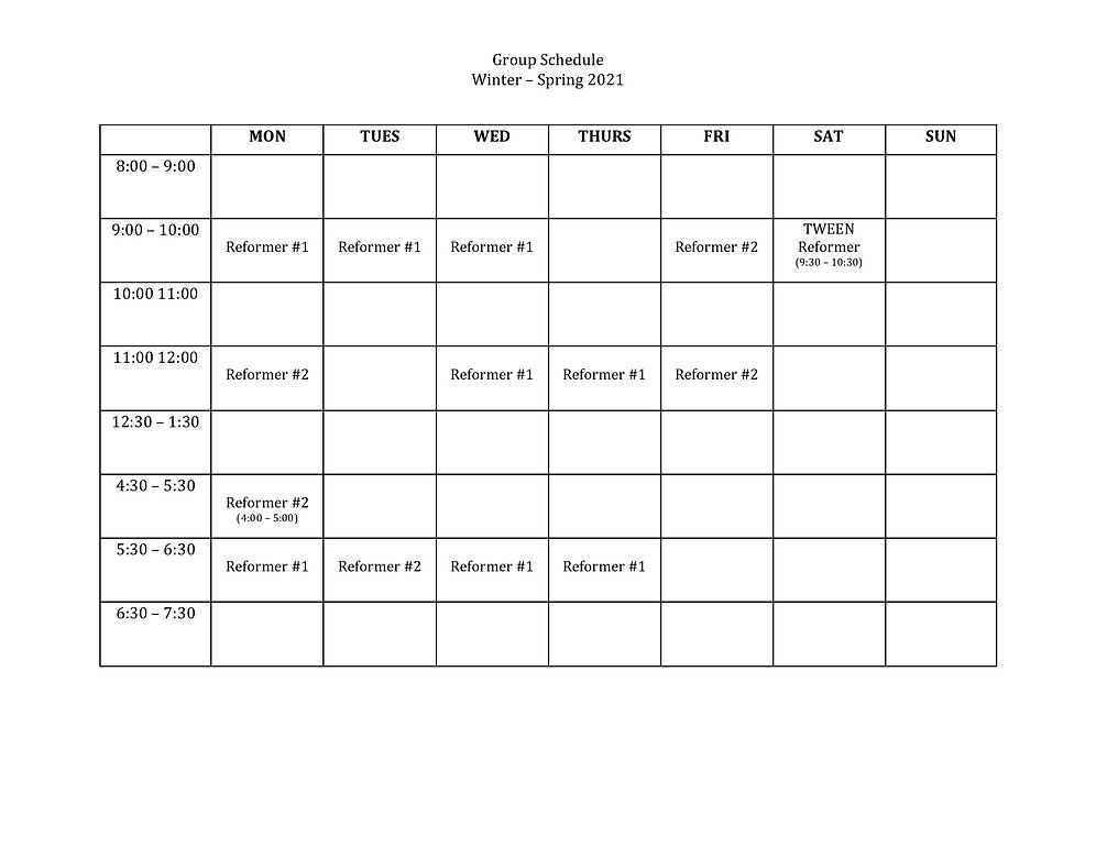 Group Schedule Winter - Spring 2021 copy