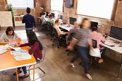 biuro pełne pracowników