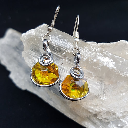Citrine Octogonal Earrings