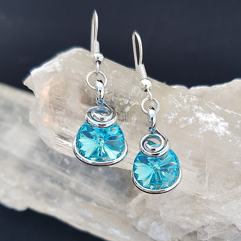 Light Turquoise Rivoli Earrings