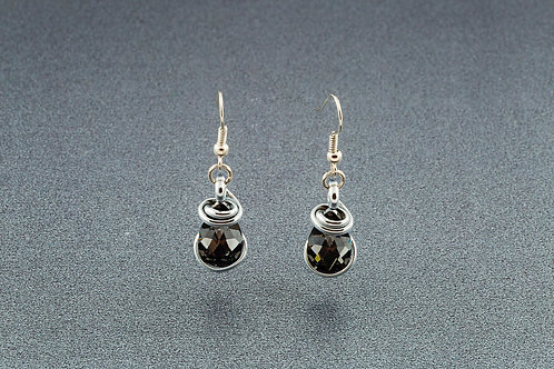 Silver Night Teardrop Earrings