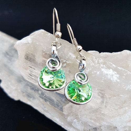 Peridot Rivoli Earrings
