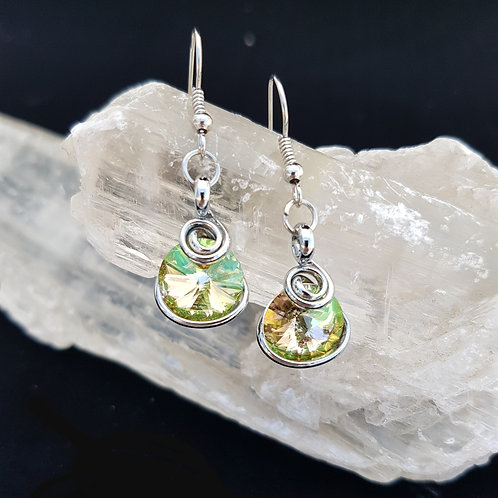 Luminous Green Rivoli Earrings