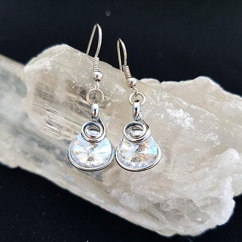 Crystal Clear Rivoli Earrings