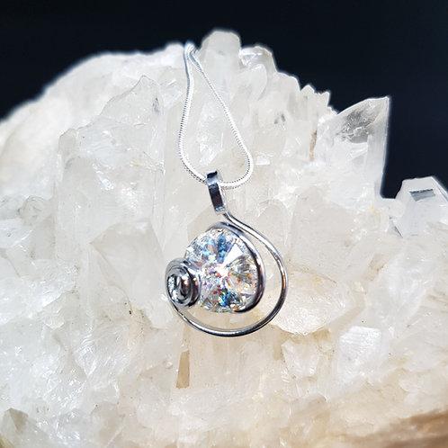 Crystal Clear Rivoli Pendants