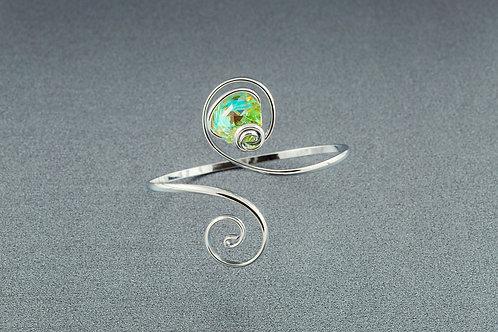 Peridot Aurora Borealis Octogonal Bracelet