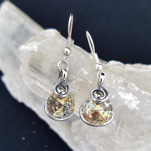 Gold Patina Rivoli Earrings