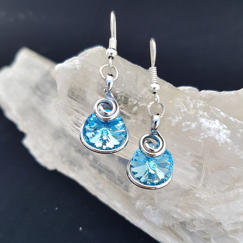Aquamarine Rivoli Earrings