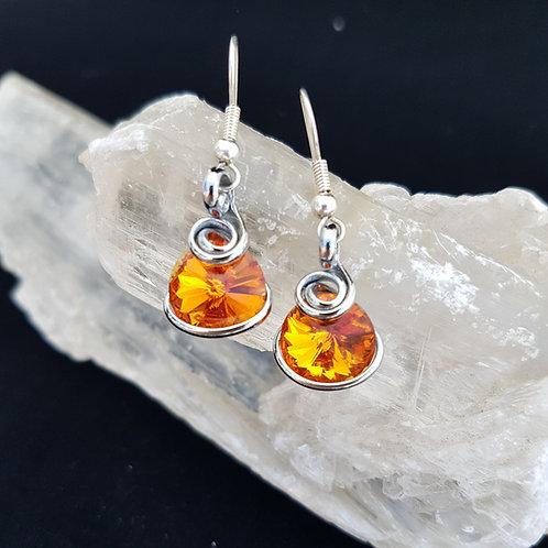 Tangerine Rivoli Earrings