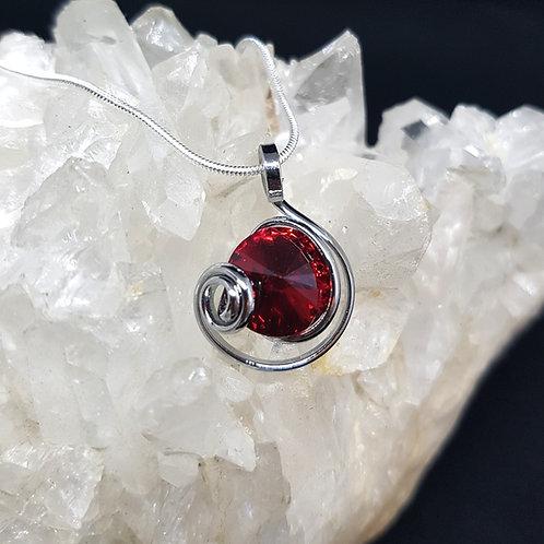 Scarlet Rivoli Pendant
