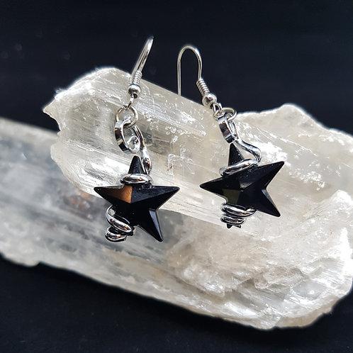 Jet Star Earrings