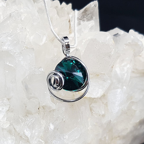 Emerald Rivoli Pendant