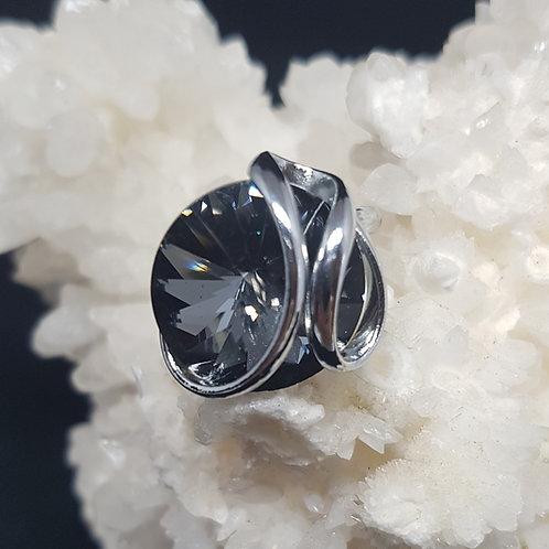 Silver Night Rivoli Ring
