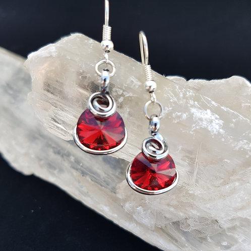 Scarlet Rivoli Earrings
