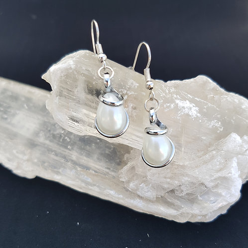Crystal Pearl Teardrop Earrings