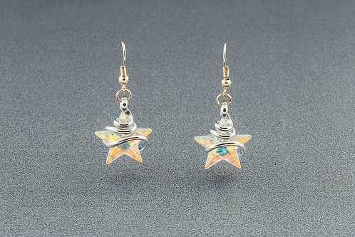 Aurora Borealis Star Earrings