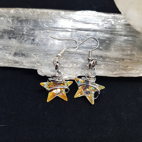 Aurora Borealis Star Earrings