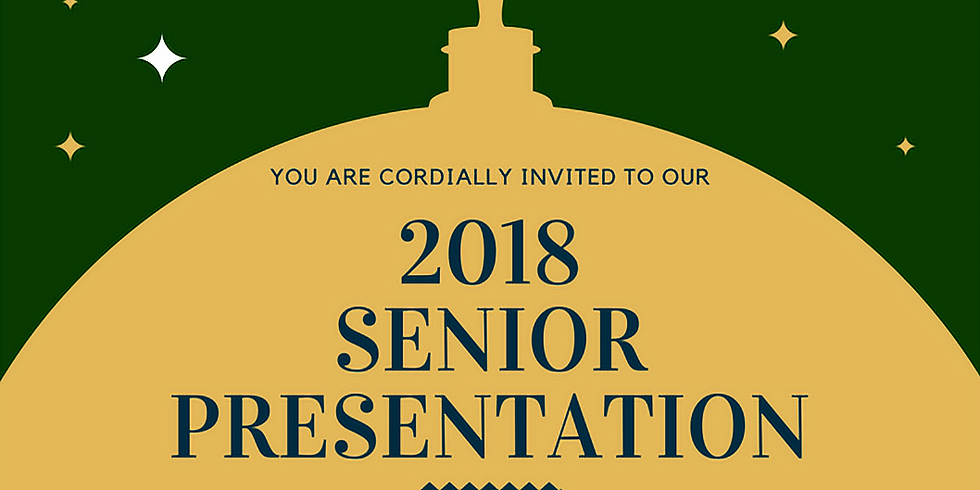 2018 Senior Presentation Night