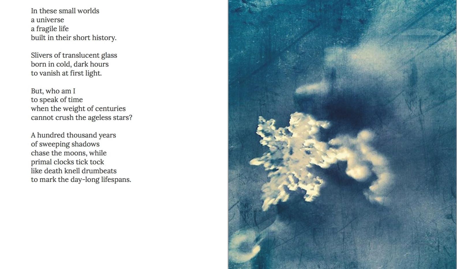 WA is Water Snowflake poem