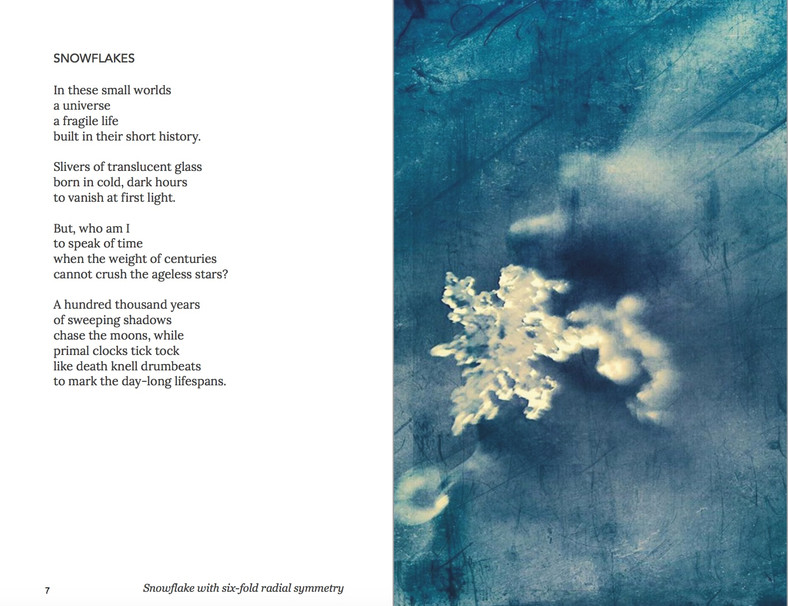 WA is Water Snowflake poem