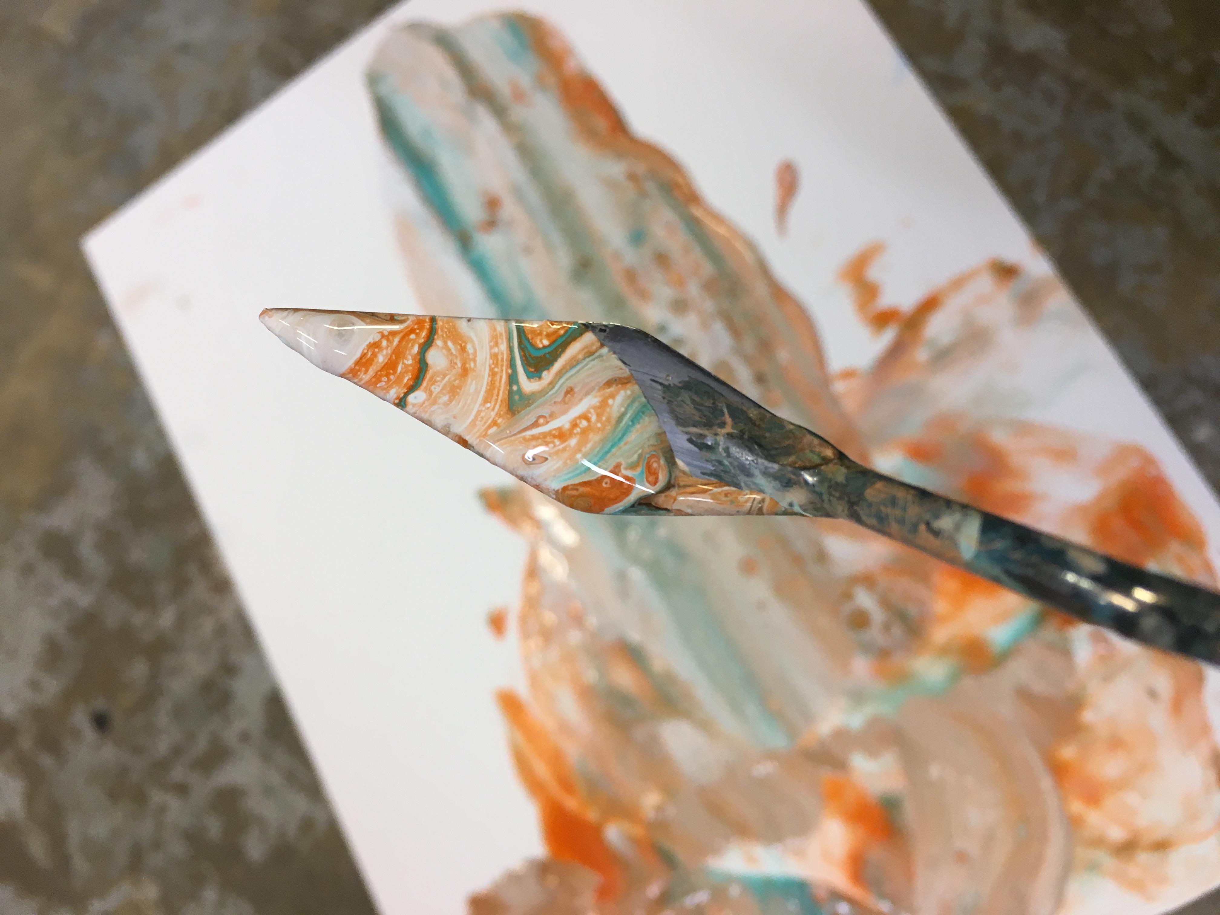 Behind the scenes, painting detail by Washington State painter, Jennifer Preston Chushcoff