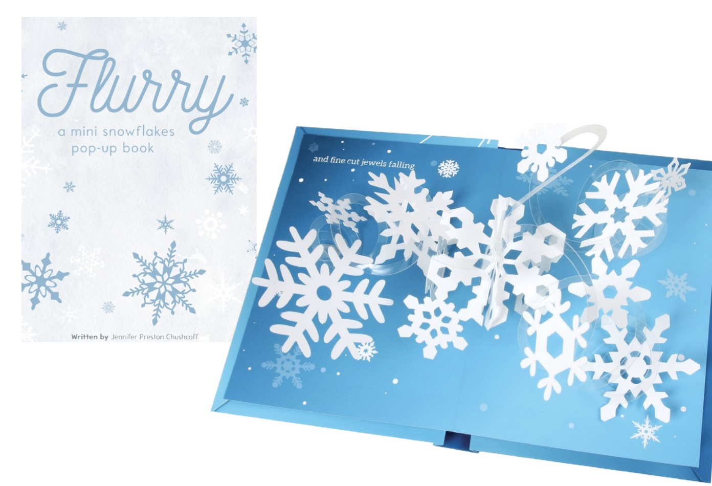 Flurry snowflake pop up book