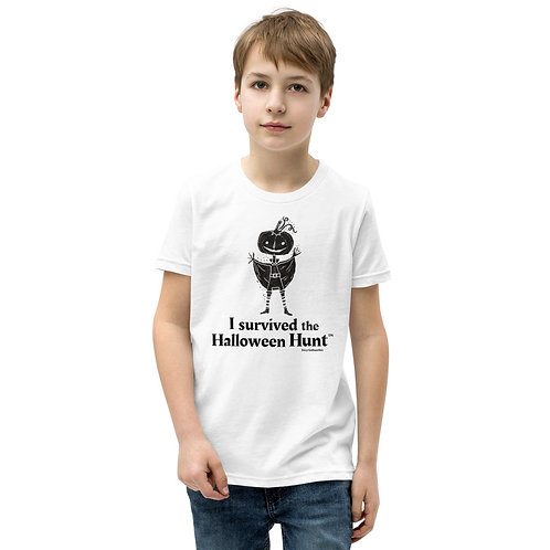 """""""I survived the Halloween Hunt"""" Fairy Gothmother Youth Short Sleeve T-Shirt"""