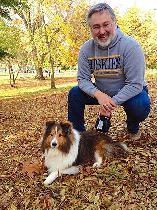 Judge Bryan Chushcoff and his dog, Winston