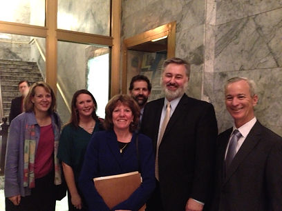 Judge Bryan Chushcoff in Olympia for SSB 5165Bill Signing.He was instrumental in writing and representingBill 5165, which gives SuperiorCourtCommissioners more authority to handle certainlegal matters.