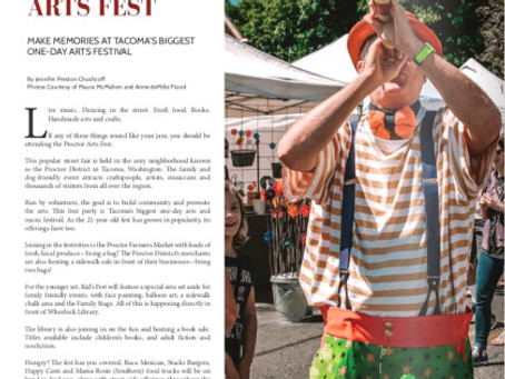 New Article for 253 Magazine,Tacoma's Proctor Art Fest