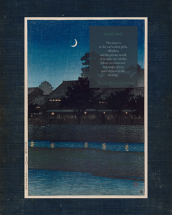 Kawase Hasui print with poem by Jennifer Preston Chushcoff
