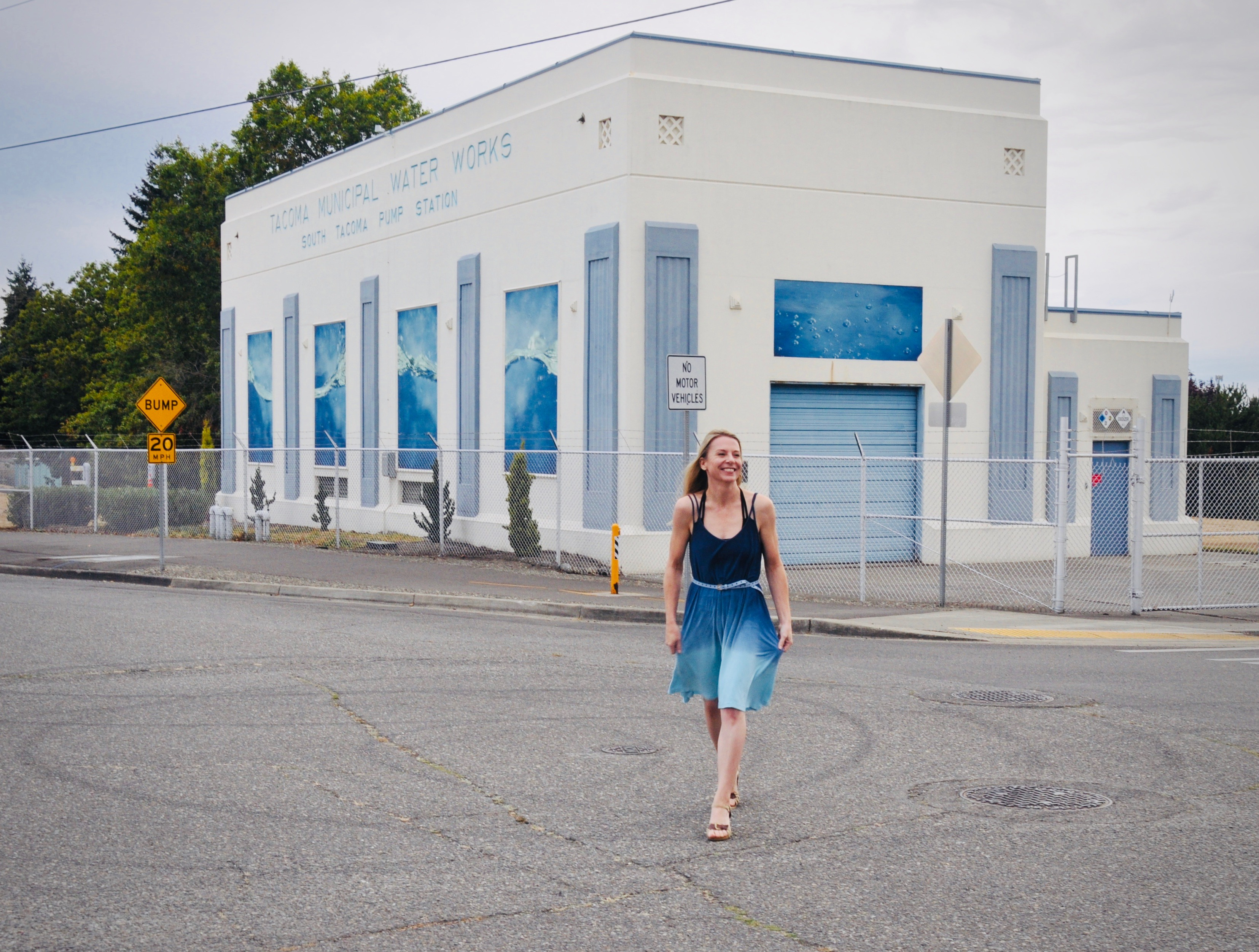 FLOW, Tacoma art installation collaboration with Washington State artists, Clark Wiegman and Jennife