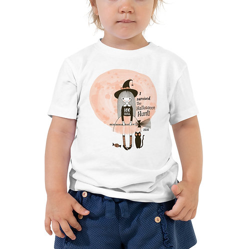 """""""I survived the Halloween Hunt™"""" Toddler Short Sleeve Tee"""