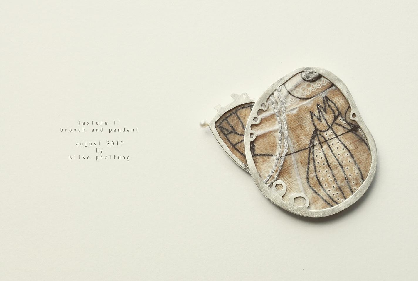 Texture II- Brosche und Anhänger