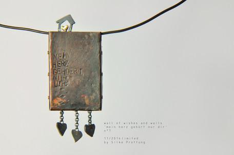 Klagemauer Nr. 7 (Rückseite) - Mein Herz gehört nur dir