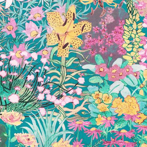 Anna's Garden(Teal) Liberty Tana Lawn 135x50cm