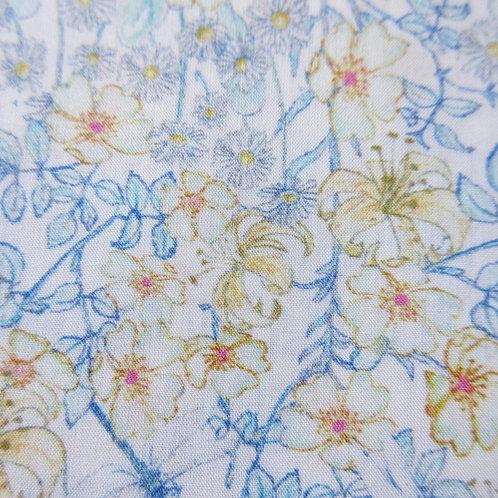 【ラミネート】Mrs. Monroe (Blue) Liberty Tana Lawn 110x50cm