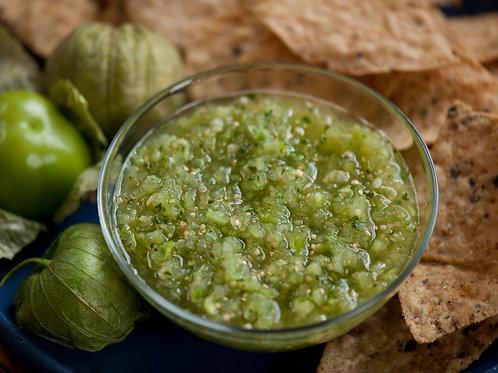 8oz Green salsa jar