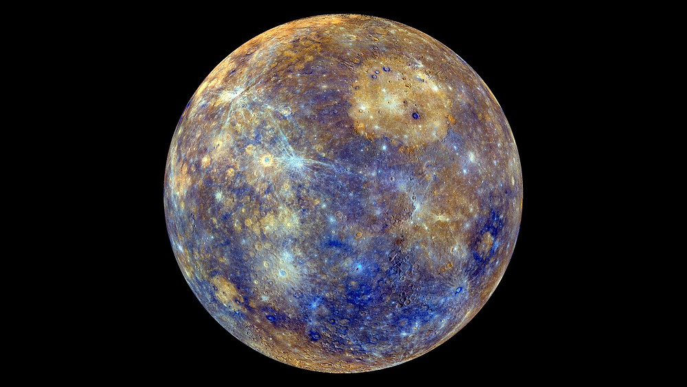 A colorful photo of Mercury