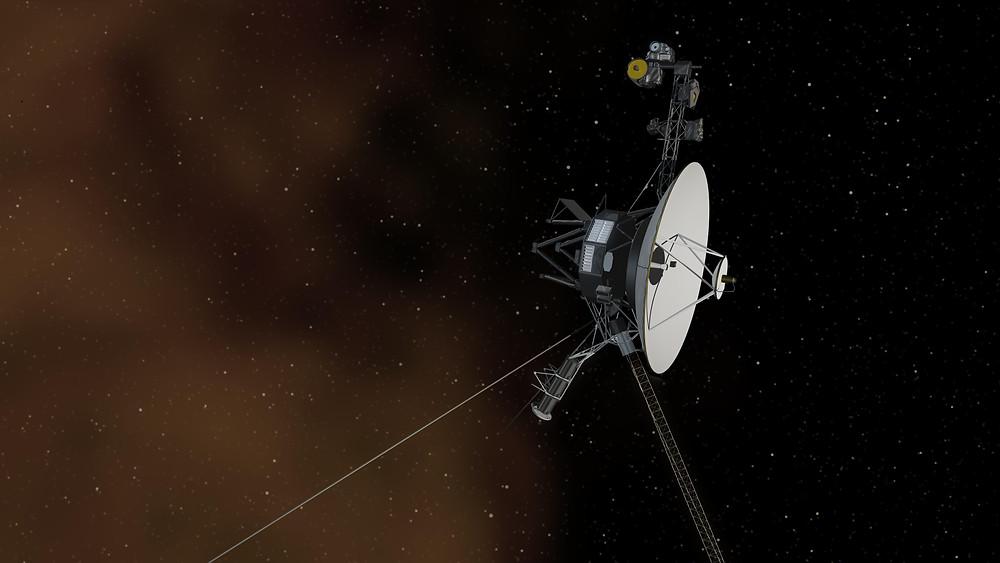 An artist's rendition of Voyager 1 (Voyager 2's twin) entering interstellar space. (Credit: NASA/JPL-Caltech)