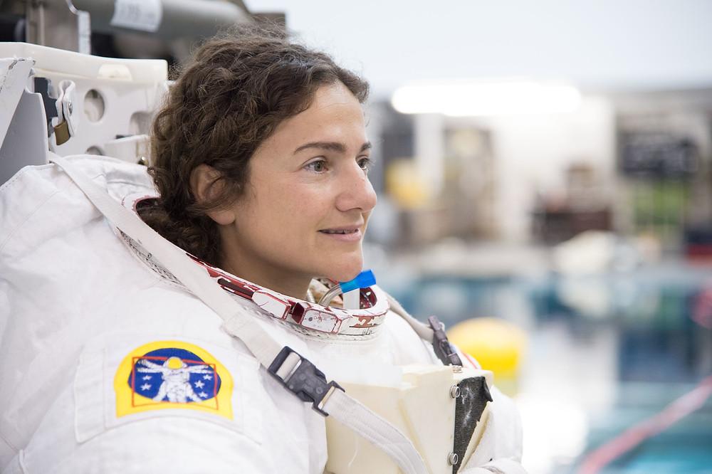 Astronaut Meir looks onward during EVA Skills 1 Training