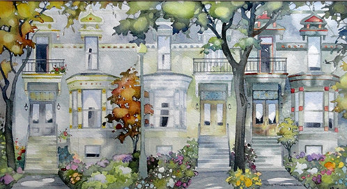"""Lewis Ave., Montreal, 29""""x18"""" Framed"""