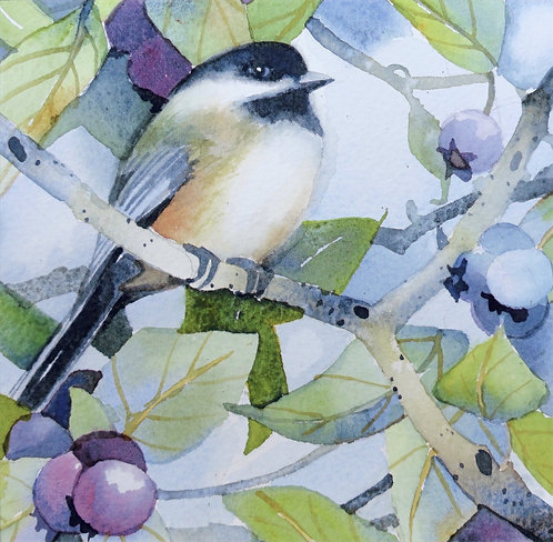 Chickadees and Blueberries