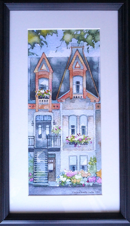 """A Slice of Montreal A-21-3,  10"""" X 16"""" Framed"""