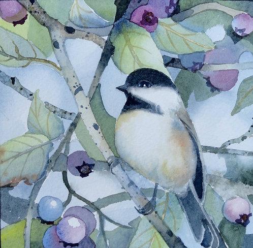 Chickadees and Blueberries (II)